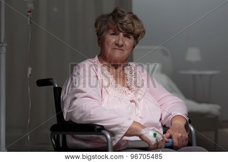 Injured Sad Woman