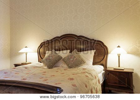 Retro Bedroom With Stylish Bed