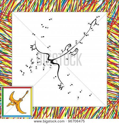 Cartoon Pterodactyl Dot To Dot