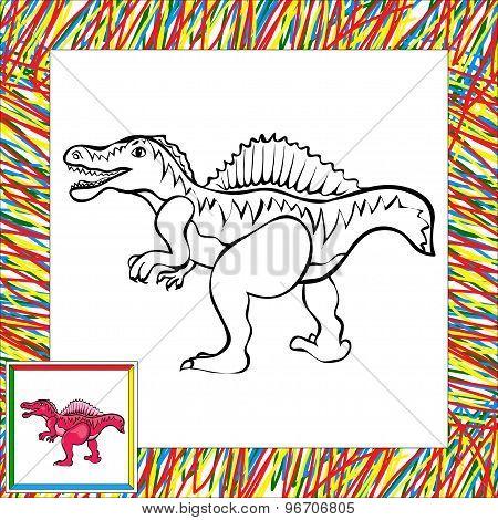 Funny Cartoon Spinosaurus