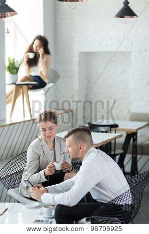 Meeting In Designed Restaurant