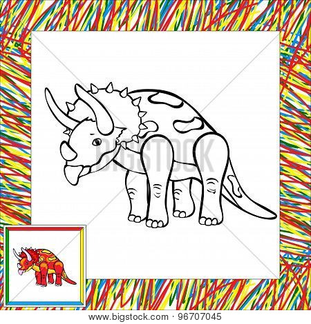 Funny Cartoon Triceratops