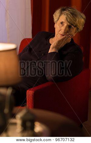 Old Melancholic Lady