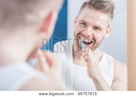 Man And Perfect Teeth