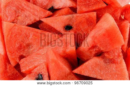 Close Up Red Water Melon Background Texture