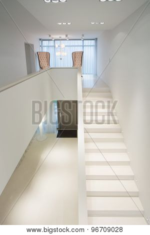 White Stairs In Exclusive Mansion