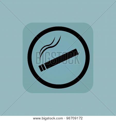 Pale blue smoking sign