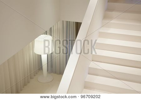 White Stairs In Luxury Apartment