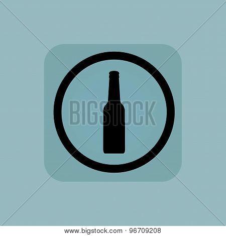 Pale blue alcohol sign