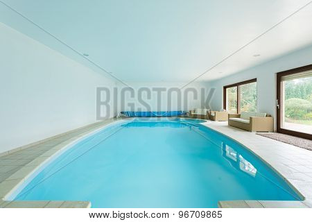 Swimming Pool In Luxury Mansion