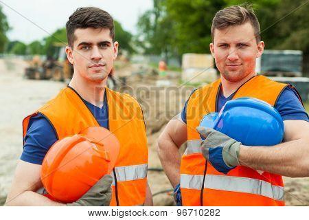 Handsome Constructive Workers