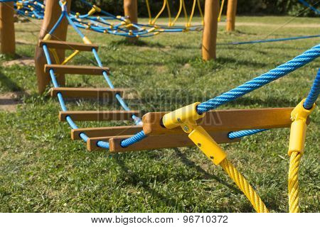 New Rope Bridge On Playground