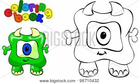 Coloring Book Monster