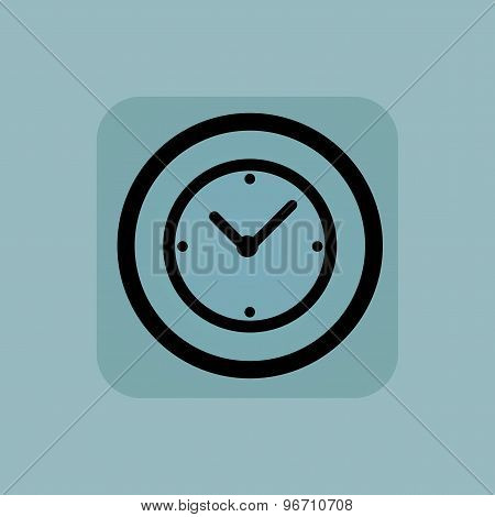 Pale blue clock sign