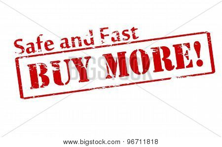 Rubber stamp with text buy more inside vector illustration