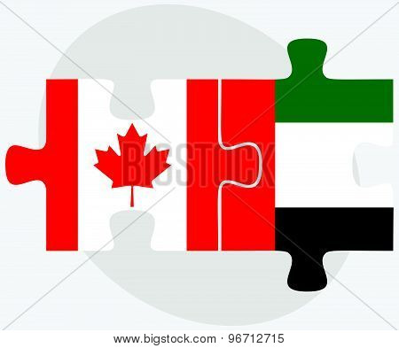 Canada And United Arab Emirates Flags