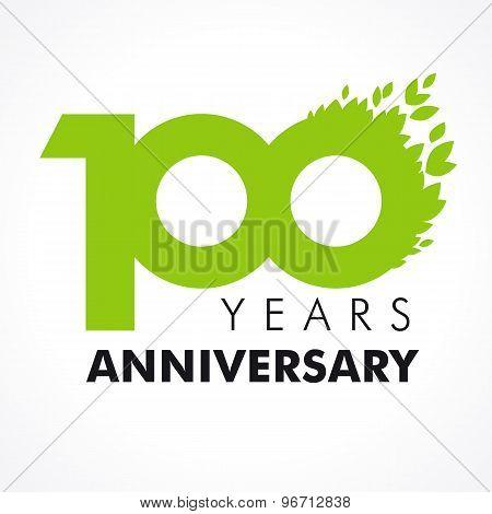 100 anniversary leaves logo