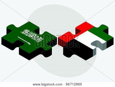 Saudi Arabia And United Arab Emirates Flags