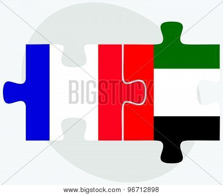 France And United Arab Emirates Flags
