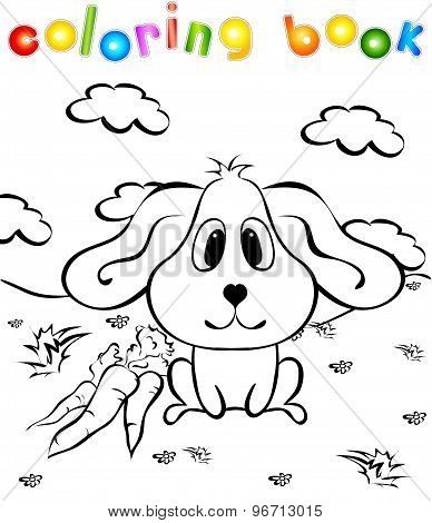 Rabbit With Carrots Second Coloring Book