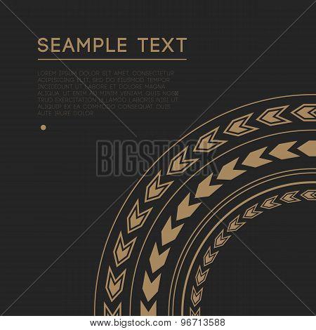 Circle Ornamental Decorative Frame