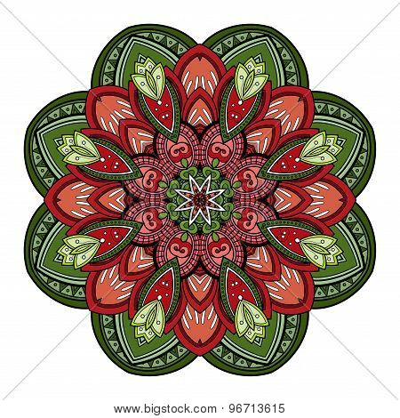 Vector Beautiful Deco Colored Mandala