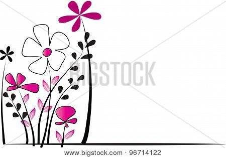 vector flower with background