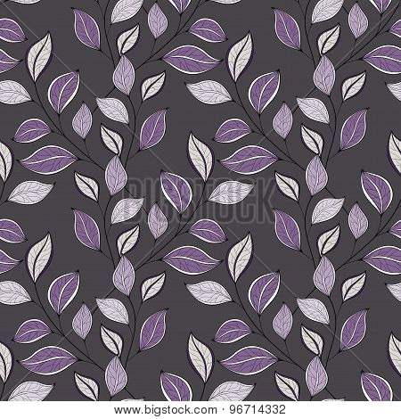 Vector Seamless Floral Pattern. Hand Drawn Floral Texture