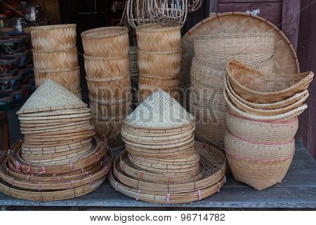 Bamboo Basketwork Products Placed On The Market.