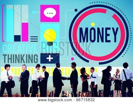 Money Accounting Banking Economy Exchange Wealth Concept