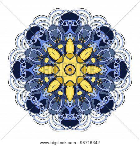 Vector Beautiful Deco Colored Mandala