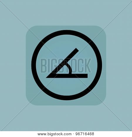 Pale blue angle sign