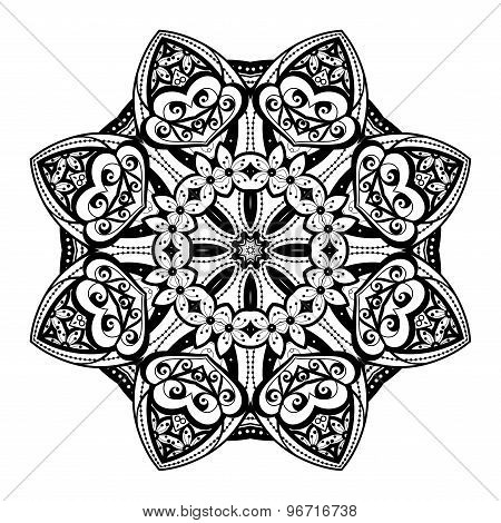 Vector Beautiful Deco Black Mandala