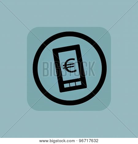 Pale blue euro screen sign