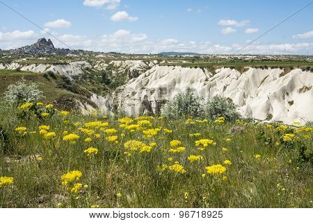 Rock formations of Cappadocia near Uchisar