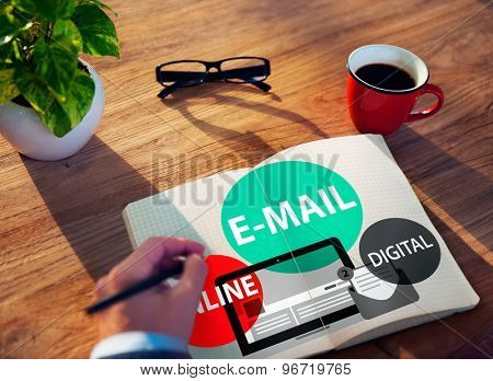 E-mail Online Digital Instant Messaging Concept