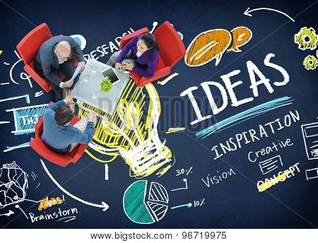 Ideas Innovation Creativity Knowledge Inspiration Vision Concept