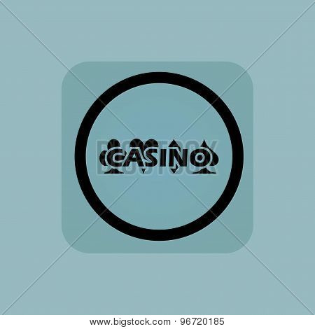 Pale blue casino sign