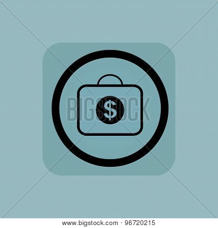 Pale blue dollar bag sign