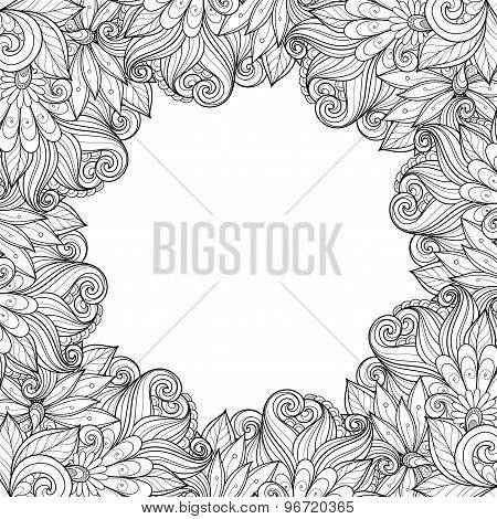 Vector Monochrome Floral Background