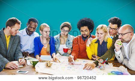 Brainstorming Meeting Communication Teamwork Concept