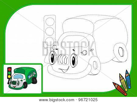 Coloring Book Dot Lorry