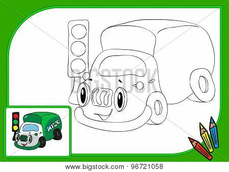 Coloring Book Lorry