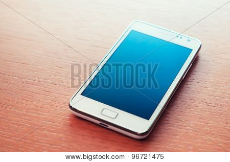 Smartphone with turned off screen