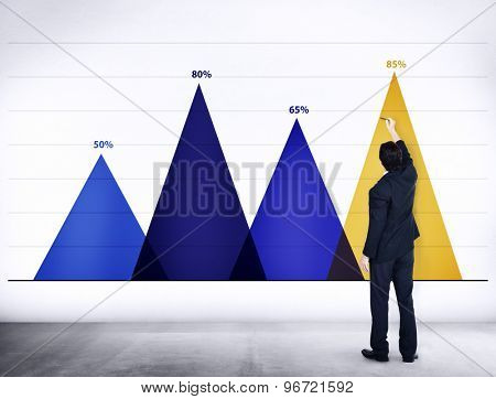 Business Data Analysis Strategy Marketing Graph Concept