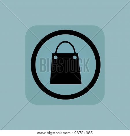 Pale blue shopping bag sign