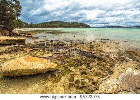 Rocky beach Tasmania