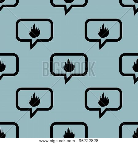 Pale blue fire message pattern
