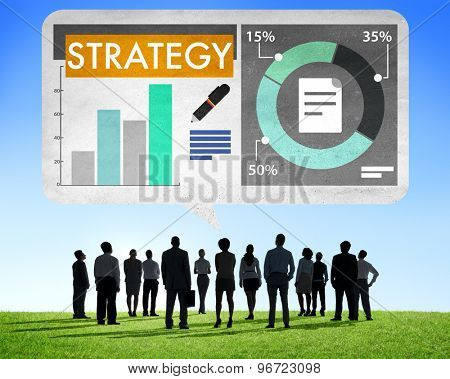 Business Strategy Planning Tactics Concept