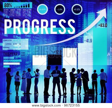 Progress Improvement Development Success Growth Concept
